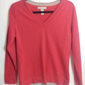 Banana republic fine merino wool pink sweater